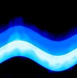 无缝的蓝色能量波浪 免版税库存图片