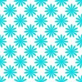 无缝的蓝色花纹花样 免版税库存图片