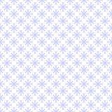 无缝的蓝色雪花样式 库存照片