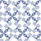 无缝的蓝色织品样式墙纸 免版税库存图片