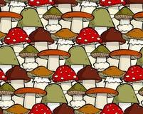无缝的蘑菇 免版税库存图片