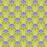 无缝的蝴蝶花背景 免版税库存照片