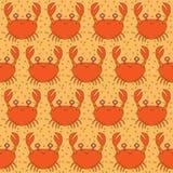 无缝的螃蟹样式 皇族释放例证