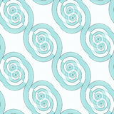 无缝的螺旋样式对角绿松石白色 库存例证