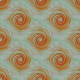 无缝的螺旋样式橙色灰色桃红色绿色 免版税库存照片