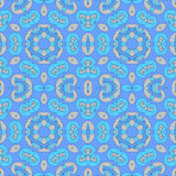 无缝的螺旋样式蓝色杏子颜色 库存图片