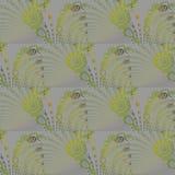 无缝的螺旋样式绿色灰色 库存例证