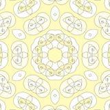 无缝的螺旋样式黄色白色 库存图片