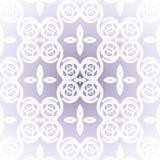 无缝的螺旋装饰品白色淡紫色发光 免版税库存照片