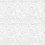 无缝的被变形的样式 抽象背景曲线 空白纹理 向量例证