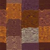 无缝的被子方格和条纹图形 向量例证
