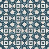 无缝的被用完的古色古香的背景177_cross星框架 图库摄影