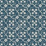 无缝的被用完的古色古香的背景140_cross geomery花 库存图片