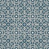 无缝的被用完的古色古香的背景237_cross quare多角形星花 免版税库存图片