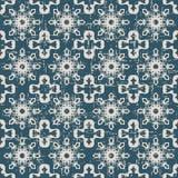 无缝的被用完的古色古香的背景167_crystal几何万花筒花 免版税库存图片