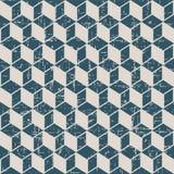 无缝的被用完的古色古香的背景147_cubic正方形几何 免版税图库摄影
