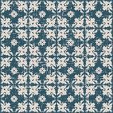 无缝的被用完的古色古香的背景136_flower万花筒几何 免版税库存图片