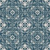 无缝的被用完的古色古香的背景179_flower万花筒几何 图库摄影