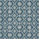 无缝的被用完的古色古香的背景131_flower几何 库存照片