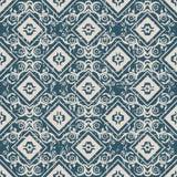无缝的被用完的古色古香的背景047_flower藤正方形 免版税库存图片