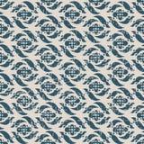 无缝的被用完的古色古香的背景232_flower螺旋几何 免版税库存图片