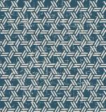 无缝的被用完的古色古香的背景304_geometry多角形十字架螺旋 免版税库存图片