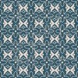 无缝的被用完的古色古香的背景137_Islam十字架星几何 免版税图库摄影