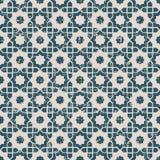 无缝的被用完的古色古香的背景170_Islam星几何 库存图片