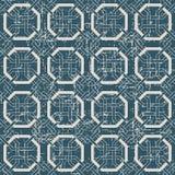 无缝的被用完的古色古香的背景186_octagon框架十字架几何 免版税库存照片