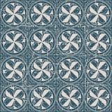 无缝的被用完的古色古香的背景138_round几何十字架 免版税库存图片