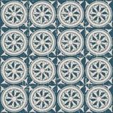 无缝的被用完的古色古香的背景156_round花螺旋 库存照片