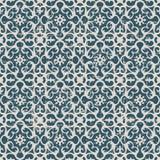 无缝的被用完的古色古香的背景149_spiral万花筒花 免版税库存照片