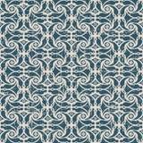 无缝的被用完的古色古香的背景211_spiral十字架花 库存照片