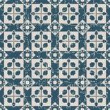 无缝的被用完的古色古香的背景171_square十字架几何 免版税库存照片