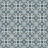 无缝的被用完的古色古香的背景060_star万花筒几何 图库摄影