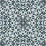 无缝的被用完的古色古香的背景044_star花几何 免版税库存图片