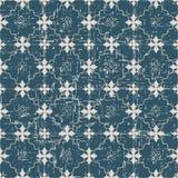 无缝的被用完的古色古香的背景183_star花十字架线 免版税库存照片