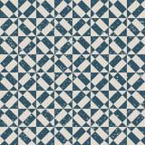 无缝的被用完的古色古香的背景002_triangle几何正方形 免版税库存照片