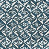 无缝的被用完的古色古香的背景173_triangle几何花 库存照片