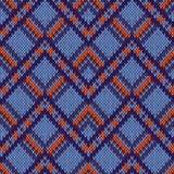 无缝的被编织的装饰样式 图库摄影