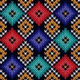 无缝的被编织的五颜六色的样式 库存图片