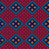 无缝的被编织的五颜六色的菱形样式 免版税库存照片