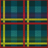 无缝的被编织的多色样式 免版税库存照片