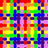 无缝的被编织的彩虹背景 免版税库存照片