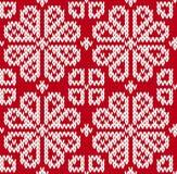 无缝的被编织的样式 库存图片