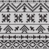 无缝的被编织的黑白那瓦伙族人样式 免版税库存图片