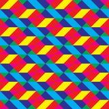 无缝的被覆盖的Cmyk多角形形状样式 免版税库存照片