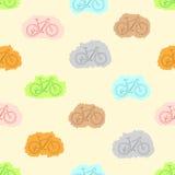 无缝的被绘的自行车 库存照片