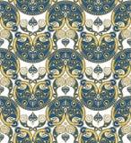 无缝的装饰品墙纸 皇族释放例证