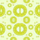 无缝的装饰品柠檬绿黄色 免版税库存照片